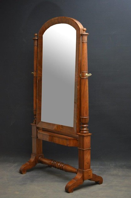 Exceptional Continental Olivewood Cheval Mirror-nimbus-antiques-2_main-62-9.jpg
