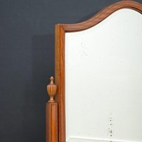 Edwardian Inlaid Satinwood Cheval Mirror