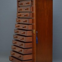 Victorian Figured Mahogany Collectors Cabinet