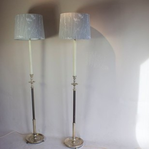 Pair of Antique floor lamps circa 1950
