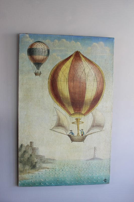 A whimsical painting of 19th C ballooon rides-norfolk-decorative-antiques-IMG_4370-main-636771214266541557.jpg