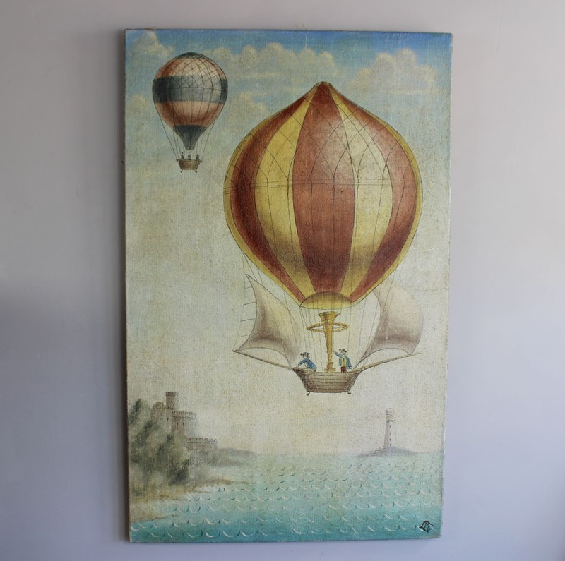A whimsical painting of 19th C ballooon rides-norfolk-decorative-antiques-IMG_4372-main-636771214167068756.jpg