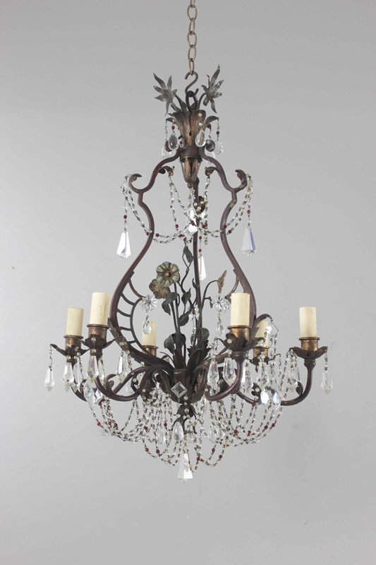 Italian polychrome and beaded antique chandelier-norfolk-decorative-antiques-img-4201-main-637461475153404628.jpg