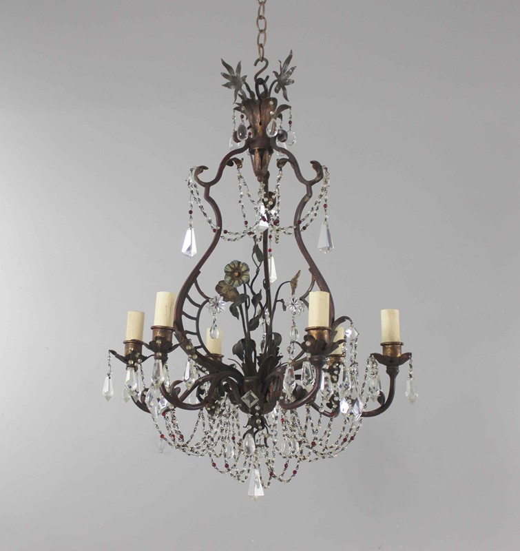 Italian polychrome and beaded antique chandelier-norfolk-decorative-antiques-img-4204-main-637461475010124021.jpg