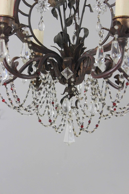 Italian polychrome and beaded antique chandelier-norfolk-decorative-antiques-img-4207-main-637461475565902736.jpg
