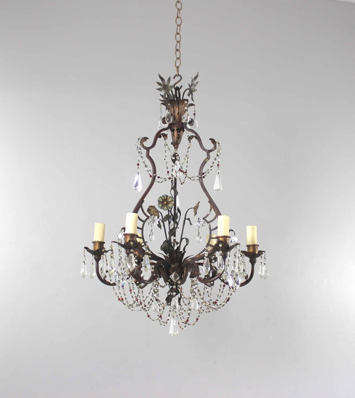 Italian polychrome and beaded antique chandelier-norfolk-decorative-antiques-img-4214-main-637461475687620203.jpg