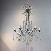 Mid century nickel plated chandelier