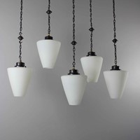 Set 5 gothic style hanging lights