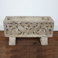 20th century reclaimed  stone planter.