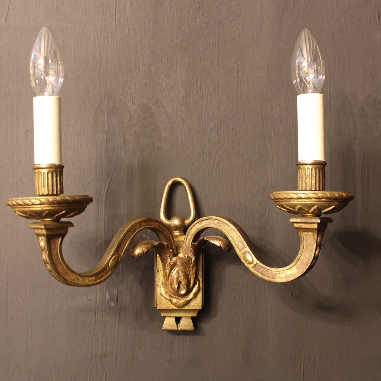 French Wall Lights: Zoom; French Pair Of Bronze Antique Wall Lights -okeeffe-antiques-OKA02005D_main.jpg,Lighting