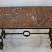 Small Spanish Coffee Table with Marble Top