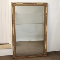 Large antique French Restauration period mirror
