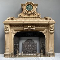 19th Century carved wood Fireplace
