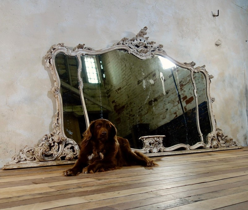 19th c Large French Overmantal Painted Wall Mirror-pappilon-fullsizeoutput-2847-main-636972244621635160.jpeg
