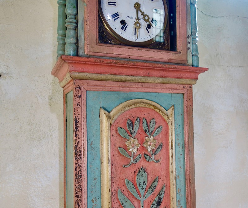 18th Colourful Painted Portuguese Longcase Clock -pappilon-fullsizeoutput-2bd3-main-637005340322526236.jpeg