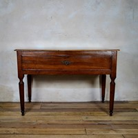 18th Cent Walnut Italian Serpentine Console Table