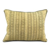 Mustard & Sage Ikat Cushion