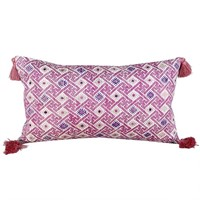 Small wedding blanket cushion with tassels
