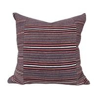 Large rusty Zhuang striped cushions