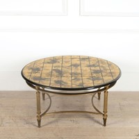 Neo Classical Coffee Table with Gilded Top