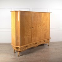 Three Door Armoire in Sycamore - French c 1950