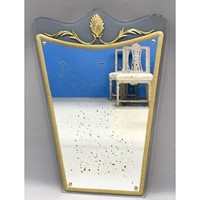 Wall Mirror by Cristal Arte. Italian c 1950