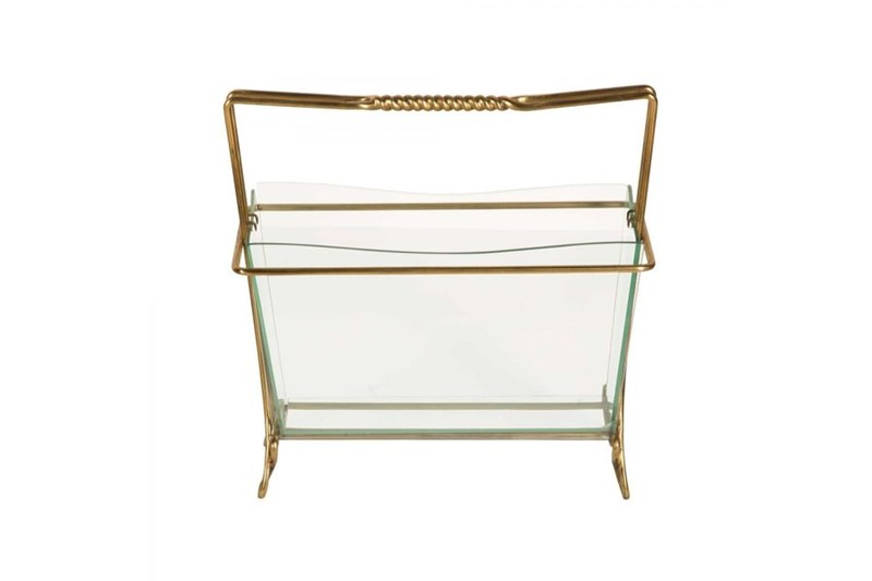 Magazine Rack in Brass and Glass by Cristal Arte-philip-varma-6da5fea1-0f6d-4cea-b630-2e091ceccc1c-main-636929782596448253.jpeg