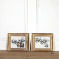 Small Pair of Italian Abstract Paintings