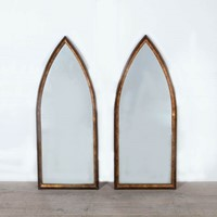Pair of Arched Mirrors. Italy c 1950