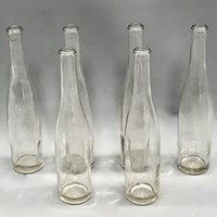 Set of  six 1950s French Glass Juice Bottles