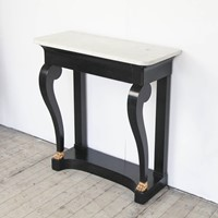 French Ebonised Console Table