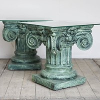 Pair of Capital Side Tables