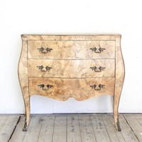 Veneered Bombe Commode