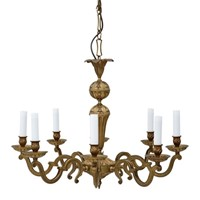 8 lamp ormolu brass chandelier
