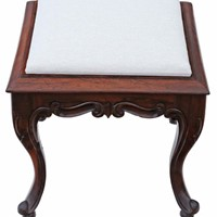 Victorian solid rosewood stool