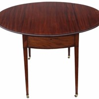 Regency inlaid mahogany Pembroke table