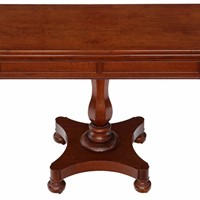 Victorian mahogany folding card console table