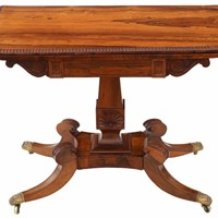 Regency rosewood folding card console table