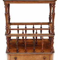 Victorian Aesthetic burr walnut Canterbury