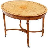 Victorian inlaid satinwood centre table