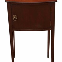 Mahogany bedside table cupboard