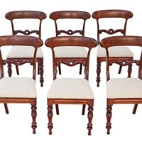 Set of 6 William IV mahogany rosewood dining chair