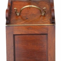 Victorian mahogany coal scuttle box or cabinet