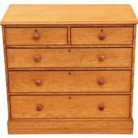 Victorian satin walnut chest of drawers