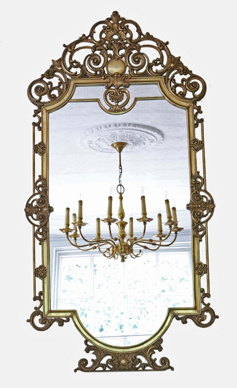 Antique large quality early 20th C brass mirror-prior-willis-antiques-7376-1-main-637040436854320476.jpg