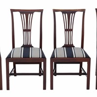 Antique set of 4 Victorian mahogany dining chairs
