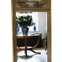 Antique large quality gilt full height wall mirror