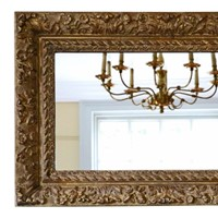 Louis XIV style gilt / overmantle wall mirror