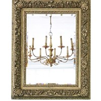 Gilt 19th Century overmantle wall mirror