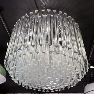 Murano glass drum chandelier